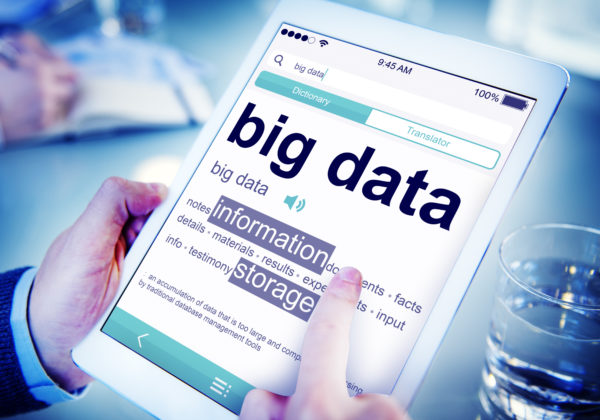 big data definition on a tablet